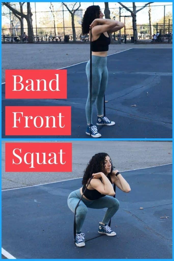 band-front-squats